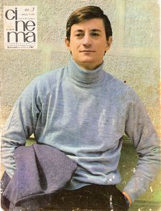 """Front cover of """"Cinema"""" magazine (July Socialist State, Warsaw Pact, Channel, Central And Eastern Europe, Soviet Union, Romania, Actors & Actresses, Beautiful People, Men Sweater"""