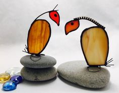 Scrappy Vultures Stained Glass Scrappy Birds by ScrappyBirdArtGlass on Etsy