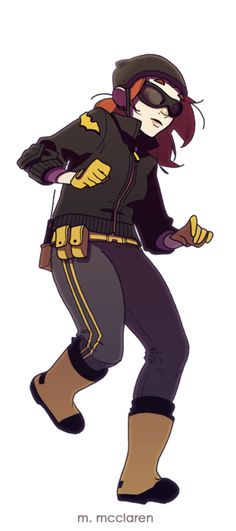 Batgirl © DC Comics Artwork by Meredith McClaren MEANWHILE~ The Kickstarter for her webcomic soldiers on! (And I would very much like to see it hit 10k soon!) Check it out: http://www.kickstarter.com/projects/225641773/hinges-book-1-clockwork-city?ref=category
