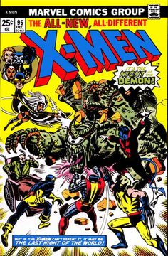 Cover for The X-Men (Marvel, 1963 series) #96 -25 cents