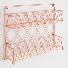 Copper Wire 2 Tier Spice Rack - Welcome My Decor