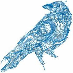 Tribal Crow free machine embroidery design. Machine embroidery design. www.embroideres.com