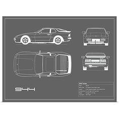 1983 Porsche 944 Wiring Diagram Moreover E39 BMW Relay Locations. Greatbigcanvas Poster Print Entitled Porsche 944 Turbo Grey By Mark Rogan. Porsche. 1986 Porsche 944 Radio Wiring At Scoala.co