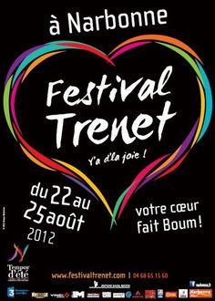"""#Aude Festival Trenet « Y a d'la joie ! » à #Narbonne - Du 22 au 25 août 2012, la ville célèbre Charles Trénet le """"Fou Chantant"""""""