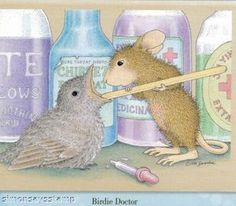 *House Mouse Rubber Stamp BIRDIE DOCTOR HMJR1055