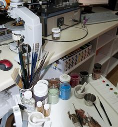 Art conservation workbench