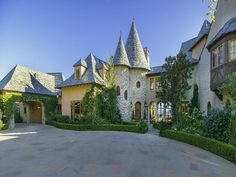Santa Barbara California Storybook tudor.  New construction.  Photo taken from Sothebys Realty.