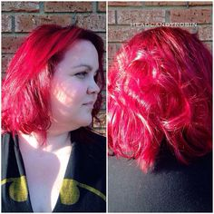 Purple rooted to bright magenta color melt by Robin using our new line of cruelty-free amazing semi permanent colors by Arctic Fox!! #salonheadcandy #arcticfoxhaircolor #americansalon #btcpics #magentahair Follow her on Instagram @headcandyrobin #headcandyrobin