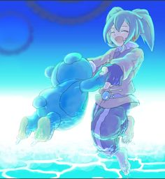 Fei Rune y su amigo el oso Inazuma Eleven Go Chrono Stone