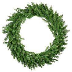 36 inch Eastern Pine Artificial Christmas Wreath - Unlit, Green