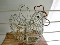 Metal Chicken Egg Basket