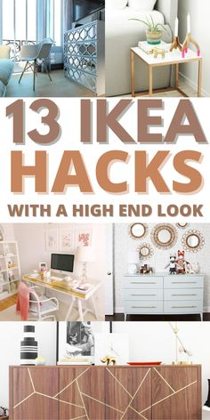 The Best IKEA Hacks With a High End Look! Do you love a great piece of furniture that has that special High End Look but you don't have the budget for it??? Well then check out some of these fabulous IKEA Hacks that look amazing and are so budget friendly you won't believe it! Ikea Hack Storage, Ikea Kallax Hack, Bedroom Hacks, Ikea Bedroom, Desk Hacks, Ikea Decor, Ikea Dresser, Best Ikea, Ikea Kitchen
