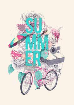 Summer by Ariana Perez, via Behance