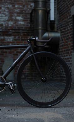 black bike...