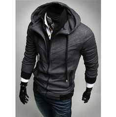 Slim Fit Zip Assassin Creed Hoodies/Sweatshirts