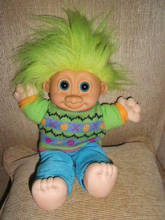 TROLL DOLL By Russ Berrie 12 inch cute troll by vintagebyrudi, $12.99