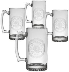 Personal Creations Set of 4 Personalized Big-Time Brewery Mugs