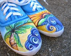 hand painted canvas shoes