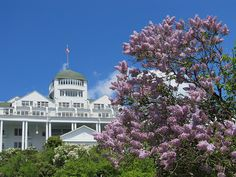 Mackinac Island Lilac Festival in May, with the Grand Hotel