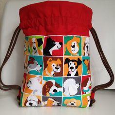 Tutorial gratuito mochila niño Drawstring Bag Tutorials, Library Bag, Couture Sewing, Kids Bags, Diy Mask, Tote Bag, Small Bags, Clutch Purse, Purses And Bags