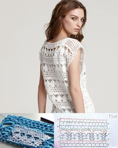 Crocheting School: Tutorial: do crochet top - first schema and sample