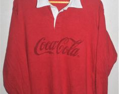 coca cola rugby shirts for sale | Coca cola rugby | Etsy