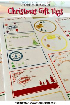 Whether you print these Christmas Gift Tags onto cardstock, adhesive paper, or photo paper, they are sure to add a special touch to your Christmas gifts! Cute Christmas Gifts, Family Christmas, All Things Christmas, Christmas Crafts, Christmas Presents, Christmas Ideas, Christmas Time, Christmas Decorations, Merry Christmas