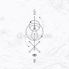 Geometric abstract mystic symbol — Векторное изображение © tukkki #88933866