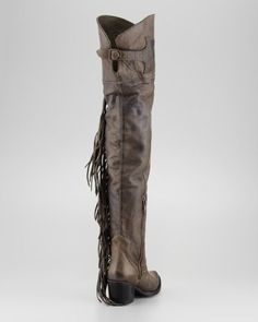 Amazon.com: Thigh-High butch fringe boots (37.5, over the knee boots): Sports & Outdoors