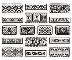 Clip Art Mexican Pattern Clipart - Clipart Suggest Ornaments Image, Ornaments Design, Aztec Symbols, Mayan Symbols, Mexican Pattern, Tattoo Hals, Aztec Art, Mexican Designs, Mexican Graphic Design