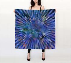 Starburst I, Winter - Silk Scarf, Large Square, 36x36