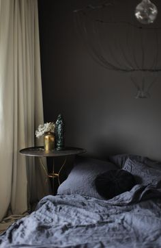 Gorgeous moody bedroom makeover! See all of Anastasia's German home on…