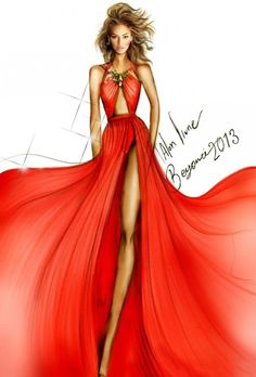 Beyonce fashion illustration