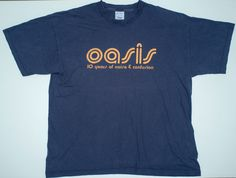 Rare OASIS 10 years of noise and confusion 2001 tour T-Shirt.   eBay!