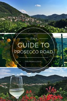 Just an hour's drive north of Venice, he Prosecco Road runs for nearly 20 miles from Conegliano to Valdobbiadene.