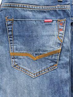 Man Jeans, Denim Jeans Men, Trousers, Embroidery, Pocket, Pattern, Fashion, Mens Jeans Outfit, Flare Leg Jeans