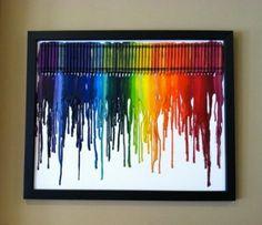 Cuadros con crayolas derretidas