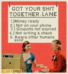 Get your shit together lane