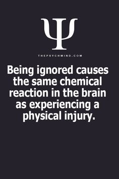 #ignored #physical pain
