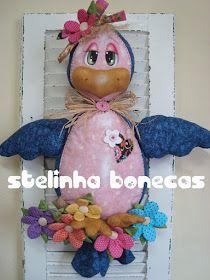 stelinha bonecas: puxa-saco passarinha