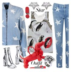 """Star Outfits"" by ilona-828 ❤ liked on Polyvore featuring STELLA McCARTNEY, CZ by Kenneth Jay Lane, George J. Love, Avon, Thom Browne, StreetStyle, denim, polyvoreeditorial and StarOutfits"