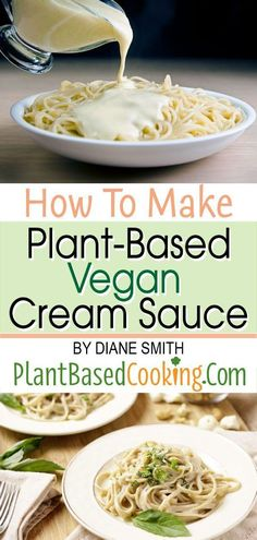 HOW TO MAKE PLANT-BASED VEGAN CREAM SAUCE Article - The good news is that its easier than you think to make vegan cream sauce! Simple and versatile vegan cream sauces can be made from a variety of healthful bases. Plant Based Eating, Plant Based Diet, Plant Based Recipes, Vegan Foods, Vegan Dishes, Vegan Lunches, Cinnamon Health Benefits, Sauce Barbecue, Vegetarian Recipes
