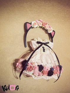 Kitten Flowers dress Set by kuloft on Etsy