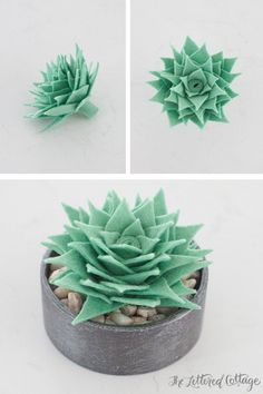 the lettered cottage How To Make A Faux Succulent http://theletteredcottage.net/how-to-make-a-faux-succulent/ via bHome https://bhome.us. Nx