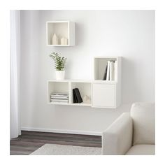 EKET Wall-mounted cabinet combination - white - IKEA / stack and combine as you please. $110 Size 41 3/8x13 3/4x47 1/4 ""