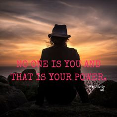 No one is you and that is your power. #positivitynote #positivity #inspiration