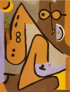 Paul Klee  'Eolico' (Wind)  1938  Oil on canvas 52 x 68 cm