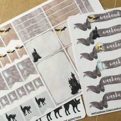 Hey, I found this really awesome Etsy listing at https://www.etsy.com/listing/247480305/halloween-planner-sticker-set