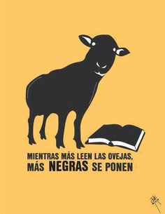 The more sheep read, more black they turn.