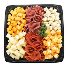 Cheese and pepperoni platter.